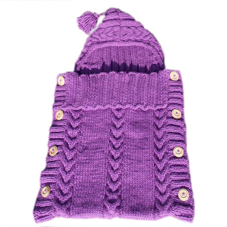 Sacco baby lana viola ciclamino bimbi a colori - Sacco letto bimbo ...