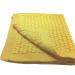 Copertina culla 65cm x 85cm lana colore giallo