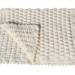 Copertina culla 55cm x 65cm lana colore bianco
