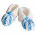 Scarpine neonato lana azzurro bianco
