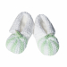 Scarpine cotone verde bianco