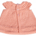 Mantellina bambina lana fine rosa salmone