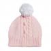 Cappellino bambina 1 anno rosa e bianco