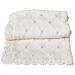 Copertina lettino 100cm x 75cm lana colore bianco e panna