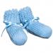 Scarpine neonato azzurre