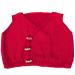 Gilet bambino 24 mesi lana fine rosso