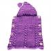 Sacco baby lana viola ciclamino