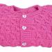 Scaldacuore bambina 3 mesi lana rosa fucsia