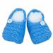 Scarpine azzurre con bottoncino