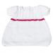 Vestitino bambina 5 mesi lana bianco e rosso
