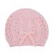Cappellino bambina 3 mesi lana rosa