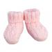 Scarpine lana rosa con forellini