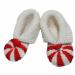 Scarpine neonato lana rosso bianco