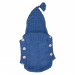 Sacco baby lana blu trecce coste 2/2