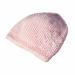 Cappellino bambina 3 mesi lana rosa chicco riso con decorazione