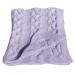 Copertina lettino 100cm x 85cm lana colore lilla