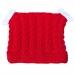 Cappellino bambina 3 mesi lana rosso