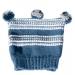 Cappellino 6 anni blu, bianco e grigio