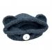 Cappellino Orsetto bambina 2 anni lana grigio scuro