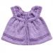 Mantellina bambina lana fine lilla