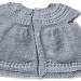 Mantellina bambina lana fine grigio perla